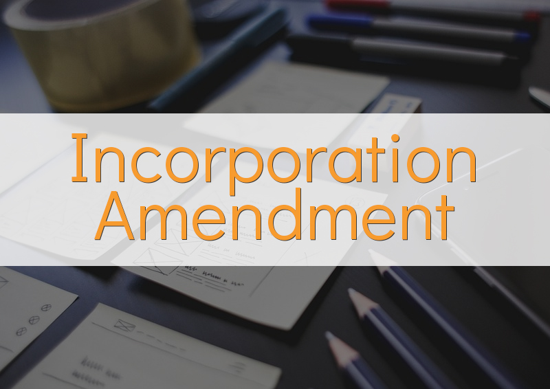 Incorporation Amendment